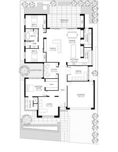 California House - Lares Homes the perfect house plan House Plans 3 Bedroom, New House Plans, Dream House Plans, Small House Plans, California Bungalow, California Homes, Bungalow Floor Plans, House Floor Plans, House Plans Australia