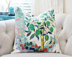 Schumacher Designer Linen Pillow Citrus Garden by MotifPillows