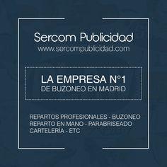 Empresa de #buzoneo en #madrid #FelizLunes #Marketing #Publicidad  http://www.sercompublicidad.com