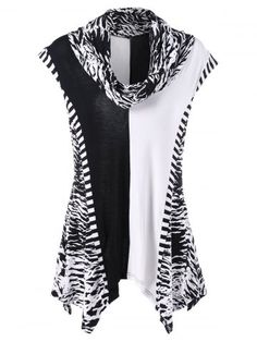 GET $50 NOW | Join RoseGal: Get YOUR $50 NOW!http://www.rosegal.com/t-shirts/cowl-neck-tiger-stripes-t-shirt-1080646.html?seid=oqkik3s85tnbe17bs92526rc34rg1080646