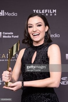 TORONTO, ON - MARCH 12: Natasha Negovanlis poses in the press room at the 2017 Canadian Screen Awards at Sony Centre For Performing Arts on March 12, 2017 in Toronto, Canada. (Photo by George Pimentel/WireImage)