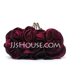 Flower Bag, Satin Flowers, Wedding Party Dresses, Special Occasion Dresses, Purses And Bags, Clutches, Jewelry Accessories, Fashion Dresses, Handbags