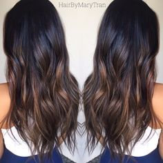 Photo of MARE. LA - Santa Monica, CA, United States. Chocolate subtle Ombre and blended haircut on Asian hair