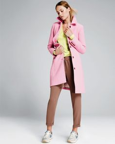 Bubble gum pink!! J.Crew Double-cloth lady day coat with Thinsulate®. #jcrewlove