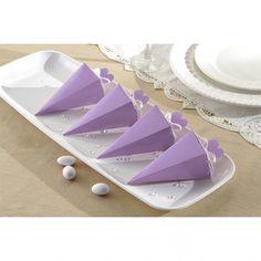 Lilac Cone Favor Box   50 ct