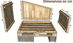 Détails des dimensions d'un petit poulailler en palettes