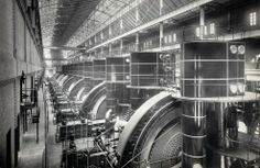An Art Deco Power Station - Subway Powerhouse, Interborough Rapid Transit Company (IRT) , 58th to 59th St, ca. 1904.  How cool!