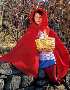 Red Riding Hood Halloween Costume  Inspired by the favorite Grimm's fairy tale, this costume will turn any little girl into a dutiful granddaughter carrying provisions through the forest. Just add a wolf and the picture is complete.