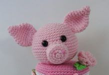 Potjes omhaken Crochet Animals, Knit Crochet, Hello Kitty, Crochet Patterns, Knitting, Baby, Crafts, Pigs, Character