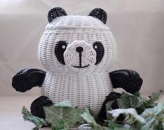 panda rattan basket