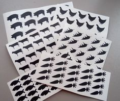Set Of 20 Meal Stickers Seals Menu Wedding Food