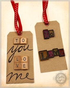 Christmas gift tags using our Mixed Media products..so simple, yet so fun!