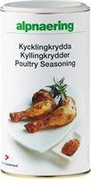 Alpnaerings Kyllingkrydder er en utsøkt krydderblanding med mye smak tilpasset kylling og annet kjøtt. Passer godt i supper,  sauser og gryteretter, og er også smakfull å benyttes som marinade.