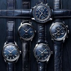 """""""In a blue mood."""" From evening skies to mysterious oceans. Which blue would you choose?  #WillowGrove #omega #omegawatches #watch #watches #luxury #watchcollecting #watchcollector #watchesofinstagram #wristgame #wristgameproper #instafashion #instawatch #horology #dailywatch #watchnerd #watchgeek #timepiece #watchaddict #timepieces #watchcollecting #watchuseek  http://ift.tt/1XyrJrv"""