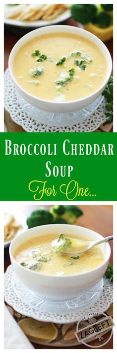 This Broccoli Cheddar Soup For One is adapted from my family's favorite Broccoli Cheddar Soup recipe. Creamy, extra cheesy and filled with broccoli. This single serving recipe will surely become your favorite too.