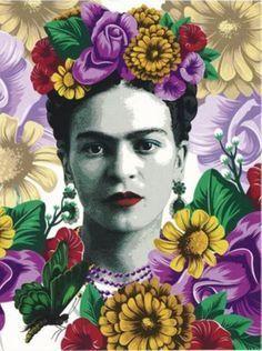 Untitled Isn't This Frida,Dear Sharon? I Love you ,TinyDancer AKA Trina with Love,and Gvgeyu'i💃🏻🙋♀️🙇♀️💞🤗💮👣🐢🌻🌻🌻 Frida Kahlo Artwork, Frida Kahlo Portraits, Kahlo Paintings, Frida Art, Diego Rivera, Fridah Kahlo, Pop Art, Frida And Diego, Mexican Artists
