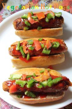 YUMMY TUMMY: Vegetarian Hot Dog Recipe / Veggie Hot Dog Recipe