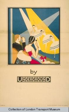 London Underground poster from the Collection of London Transport Museum London Underground, Art Deco Posters, Poster Prints, Art Print, Film Posters, Vintage Advertisements, Vintage Ads, Retro Ads, Art Nouveau