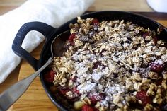 chocolate oat crumble