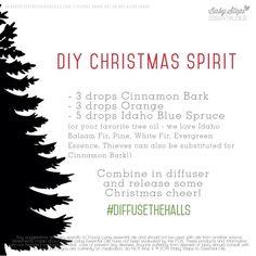 DIY Christmas Spirit Diffuser Blends Buy dōTERRA essential oils online at www.mydoterra.com/suzysholar, or contact me for more info.