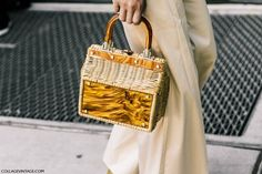 Currently Crushing On: Lucite Wicker Bags The Best of street fashion in 2017.