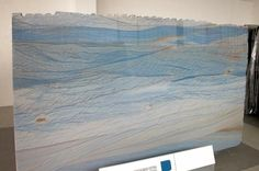 Azul Macauba: aqua blue and ivory/white granite that looks like ocean waves! The perfect counter top for a beach home kitchen or bathroom! Blue Granite Countertops, Granite Slab, White Granite, Granite Kitchen, Kitchen Countertops, Granite Colors, Kitchen Sinks, White Macaubas Quartzite, Types Of Granite