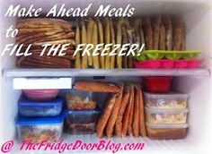 A list of recipes for Make-Ahead Meals to Fill The Freezer!