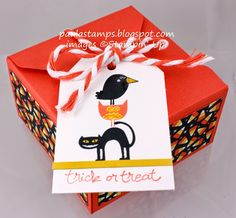 Stampin' Addicts Fall Holiday Blog Hop: Freaky Friends - adorable project - Stampin' Up!, Holiday catalog, box, Halloween