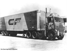 White Freightliner, CF early days cutting thru Indiana from Chicago going to Cleveland.