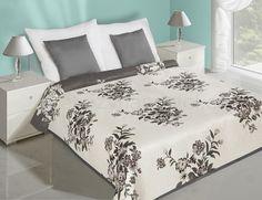 Květiny přehoz na postel oboustranný bílo šedé barvy Hotel Bed, Bed Sets, Bedding Sets, Luxury, Furniture, Amelia, Design, Home Decor, Blankets
