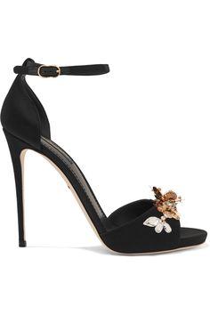 DOLCE & GABBANA Embellished satin sandals. #dolcegabbana #shoes #sandals