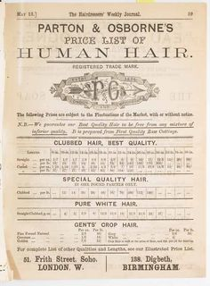 Human hair price list Hj History, Graphic Design Layouts, Looking Back, Hairdresser, Price List, Ephemera, Museum, Hair Styles, Vintage