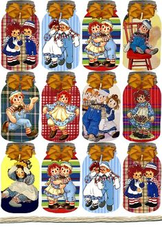 Glitter Graphics Raggedy Ann And Andy Pull Wagon, Freebies, Raggedy Ann And Andy, Card Sentiments, Paper Tags, Christmas Printables, Hang Tags, Doll Toys, Country