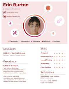 20+ Infographic Resume Templates and Design Tips to Help You Land That Job /// Design The Perfect Resume With This Trendy Character Resume Template!