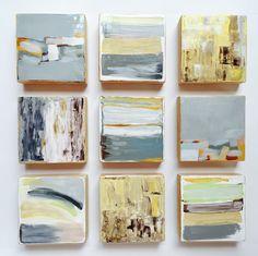 Original Painted Wood Block Wall Art | Abstract Painting Modern Wall Sculpture | Commercial Art Installation