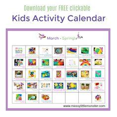 Spring Activity Calendar - March