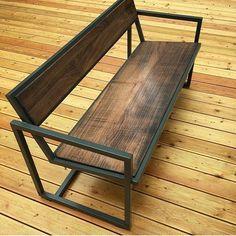 Vintage Outdoor Furniture Wood - Furniture DIY Bedroom Small Spaces - - Furniture Design Sofa Home Decor Welded Furniture, Iron Furniture, Steel Furniture, Upcycled Furniture, Industrial Furniture, Pallet Furniture, Furniture Projects, Rustic Furniture, Furniture Makeover