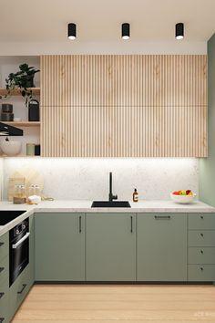 Kitchen Room Design, Modern Kitchen Design, Home Decor Kitchen, Interior Design Kitchen, Kitchen Furniture, Home Kitchens, Interior Modern, Ikea Kitchens, Light Wood Kitchens