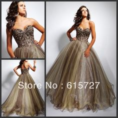 Sleek Sweetheart Beading Gold Ball Gown Girl Dress Custom Made Organza Long Evening Dresses Gown Prom Gown
