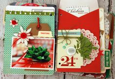 December Daily: wrapping presents and shopping list envelope. For additional photos and details visit www.jengallacher.blogspot.com.