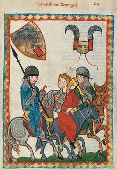 Manesse Codex - (1300 - 1340) Heinrich von Tettingen