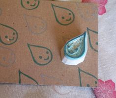 Glop-the Chubbiest little Rain Drop - Rubber Stamp $6.00 etsy.com