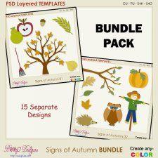 Signs of Autumn BUNDLE Layered Templates #CUdigitals cudigitals.com cu commercial digital scrap #digiscrap scrapbook graphics
