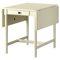 "INGATORP Drop-leaf table - white, 23 1/4/35/46 1/8x30 3/4 "" - IKEA possible sewing table for tight spot"