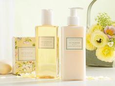 Summer Hill - White floral fragrance and hints of fresh grass and orchard fruits capture the scent of a summer afternoon.