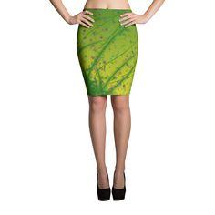 "Pencil Skirt "" Lime-Yellow Fantasy"" • eleonora's Shop"