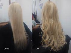 Dlouhé a husté vlasy během pár hodin. / Longer hair during a few hours. Blond hair. Before and after.