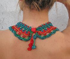 Jewelry / Necklaces Beadwork Beaded Crochet Necklace by kovale
