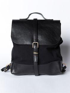 Black leather backpack from Steve Mono. Shop the collection online and in store.