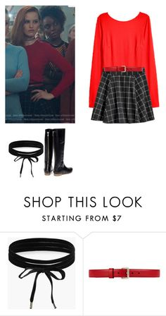 """""""Cheryl Blossom - Riverdale"""" by shadyannon ❤ liked on Polyvore featuring Boohoo, Gucci and Rupert Sanderson"""